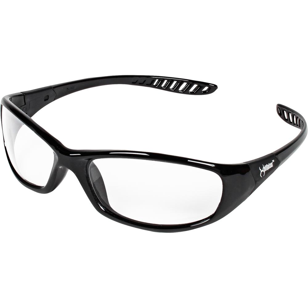 KleenGuard V40 Hellraiser Safety Eyewear - Lightweight, Flexible, Comfortable, Impact Resistant, Anti-fog - Ultraviolet Protection - Polycarbonate Lens - Clear, Black - 1 Each. Picture 4