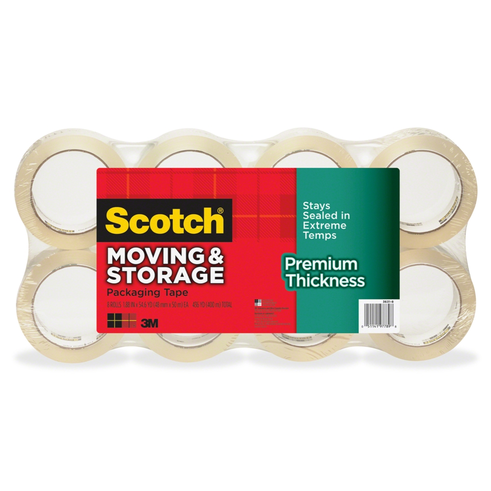 Scotch Premium Thickness Moving & Storage Packaging Tape Value Pack ...