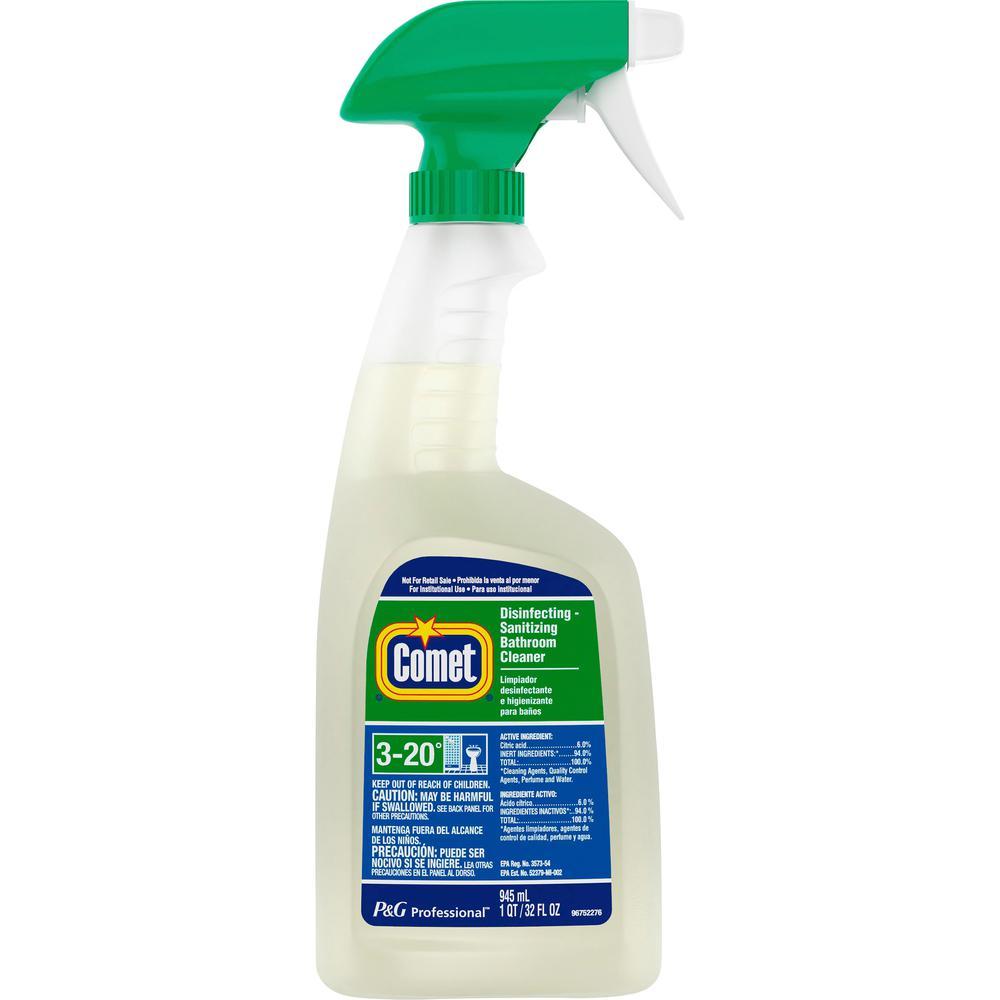 Comet Disinfecting Bathroom Cleaner Liquid Gal 32 Fl Oz Citrus Scent 8 Bottle