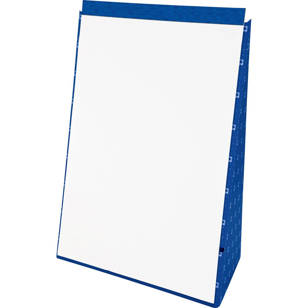 "TOPS Evidence Recycled Table Top Flip Chart - 20 Sheets - Plain - 15 lb Basis Weight - 20"" x 28"" - White Paper - Blue Cover - Chipboard Backing, Foldable, Pinhole Perforated - Recycled - 1Each. Picture 2"