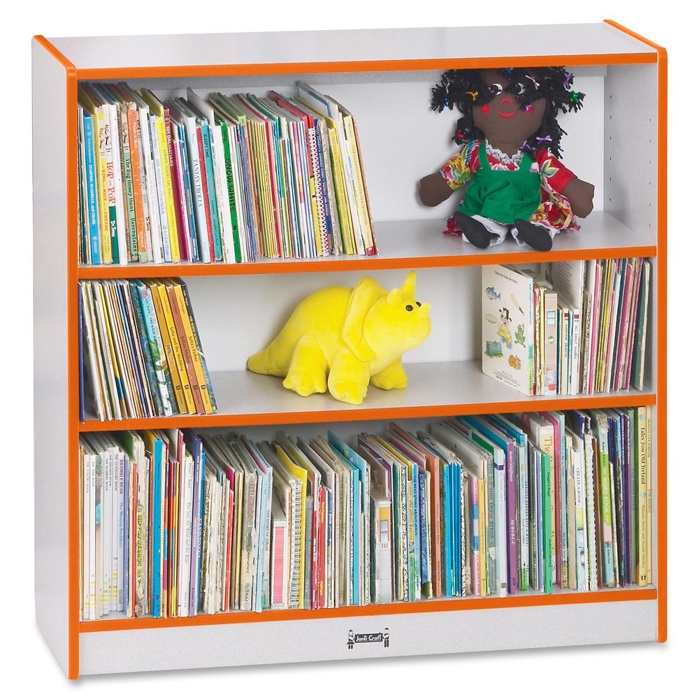 """Rainbow Accents 36"""" Bookcase - 36"""" Height x 36.5"""" Width x 11.5"""" Depth - Orange - 1Each. Picture 2"""