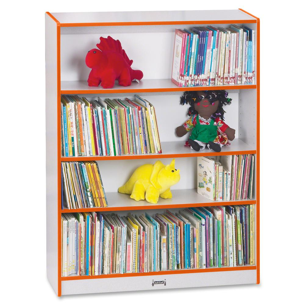 """Rainbow Accents 48"""" Bookcase - 48"""" Height x 36.5"""" Width x 11.5"""" Depth - Orange - 1Each. Picture 2"""