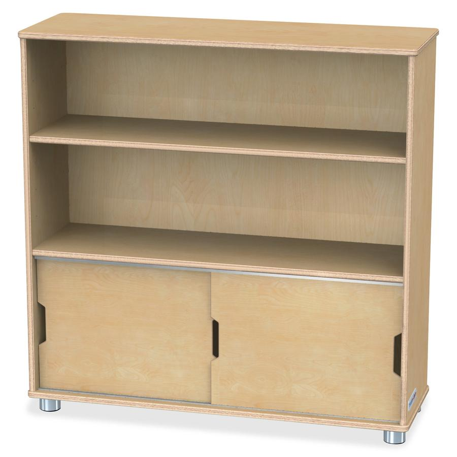 "TrueModern Bookcase Storage - 2 Compartment(s) - 36"" Height x 36"" Width x 12"" Depth - Baltic - Anodized Aluminum, Birch - 1Each. Picture 3"