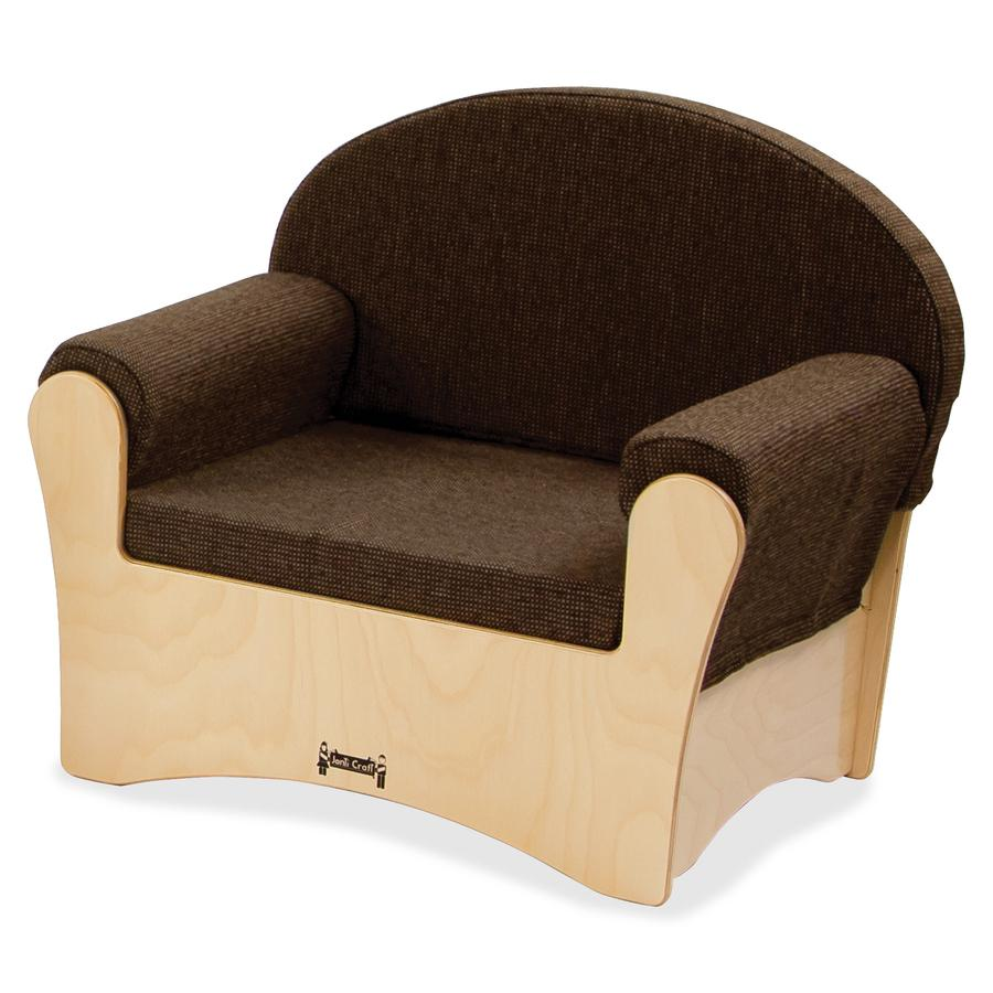 "Jonti-Craft Komfy Chair - Espresso Fabric Seat - Baltic - Acrylic - 26.5"" Width x 19.5"" Depth x 23"" Height - 1 Each. Picture 2"