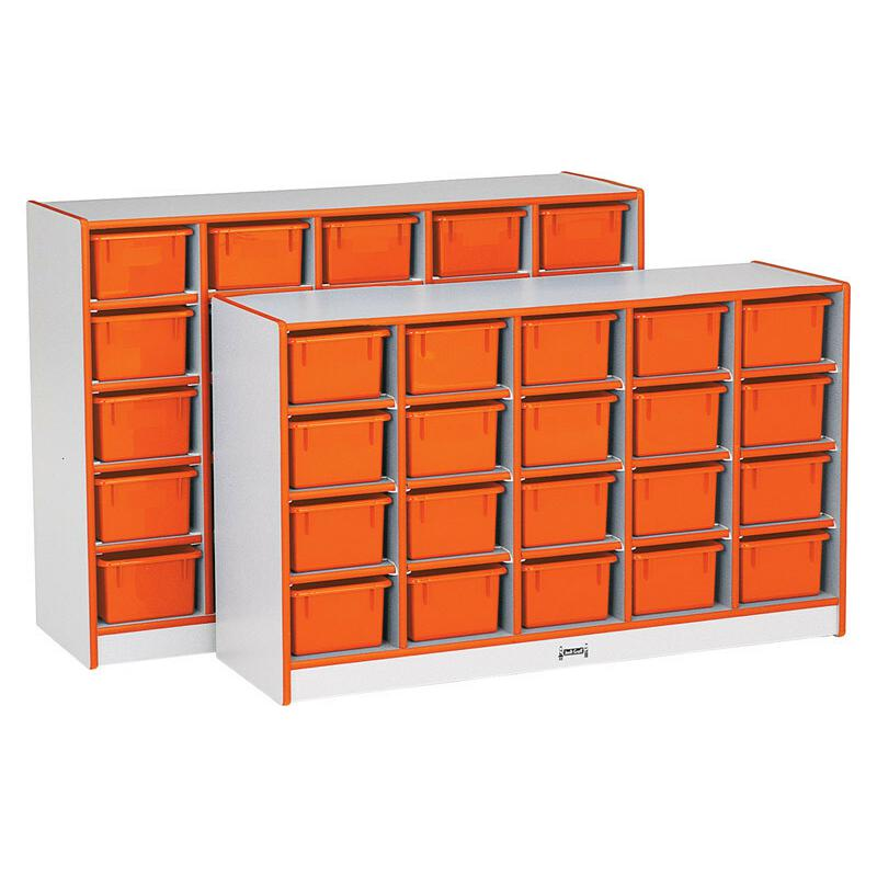 "Rainbow Accents Toddler Single Storage - 20 Compartment(s) - 29.5"" Height x 48"" Width x 15"" Depth - Orange - Rubber - 1Each. Picture 4"