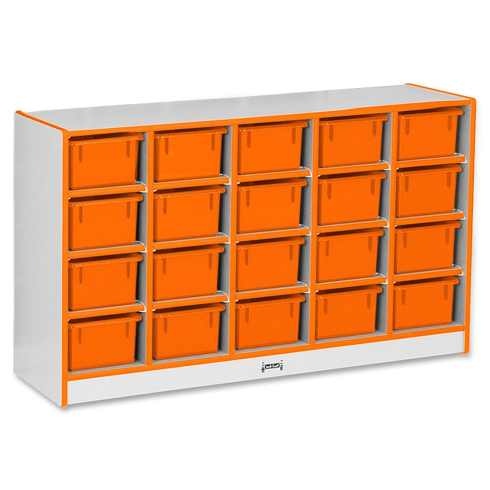 "Rainbow Accents Rainbow Accents Cubbie-trays Storage Unit - 29.5"" Height x 48"" Width x 15"" Depth - Orange - Rubber - 1Each. Picture 2"