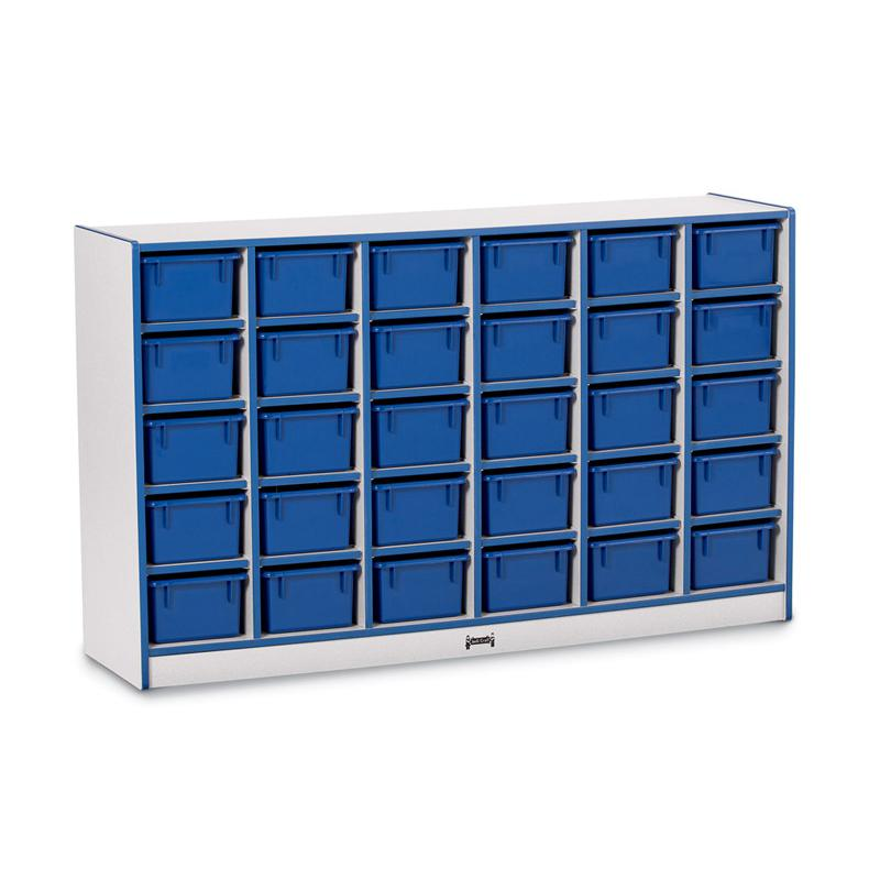 "Jonti-Craft Rainbow Accents Toddler Single Storage - 30 Compartment(s) - 35.5"" Height x 57.5"" Width x 15"" Depth - Blue - Rubber - 1Each. Picture 3"