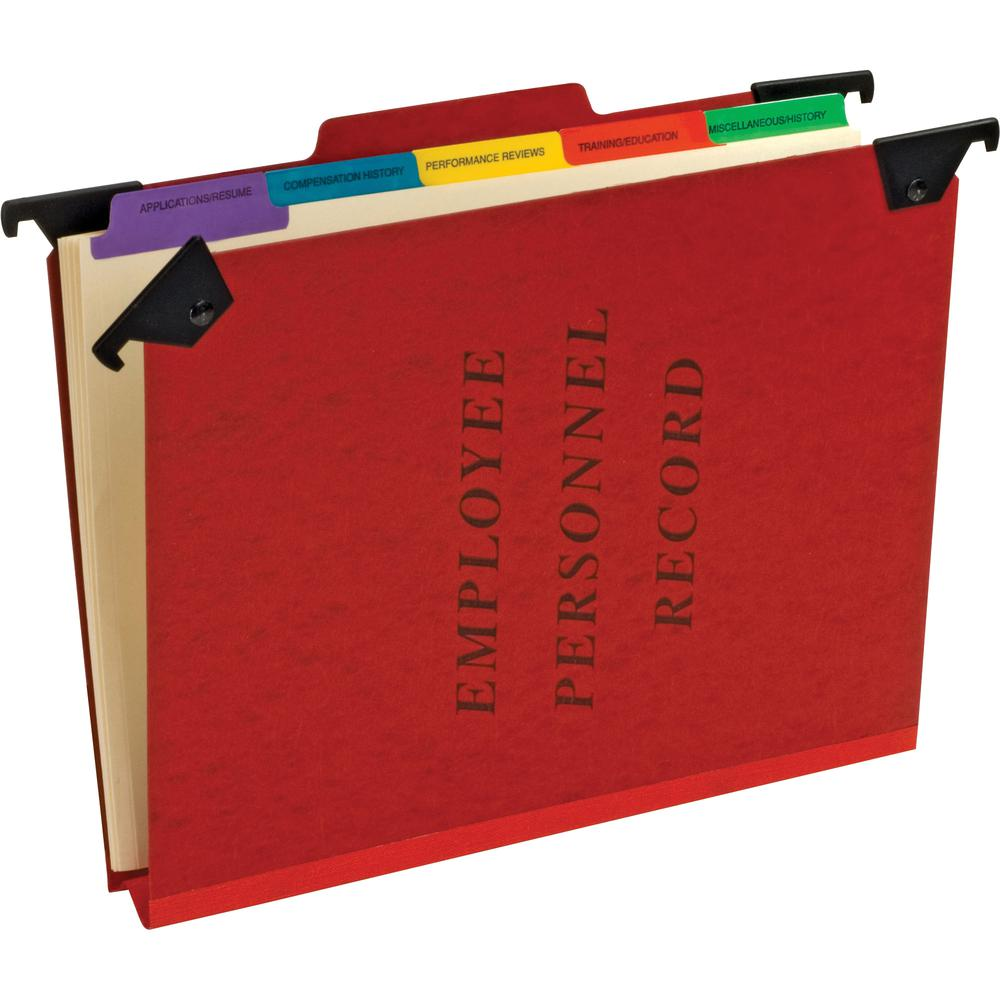 """Pendaflex 1/3 Tab Cut Letter Recycled Hanging Folder - 8 1/2"""" x 11"""" - 2"""" Expansion - 1"""" Fastener Capacity - Top Tab Location - Pressguard - Red - 65% - 1 Each. Picture 2"""