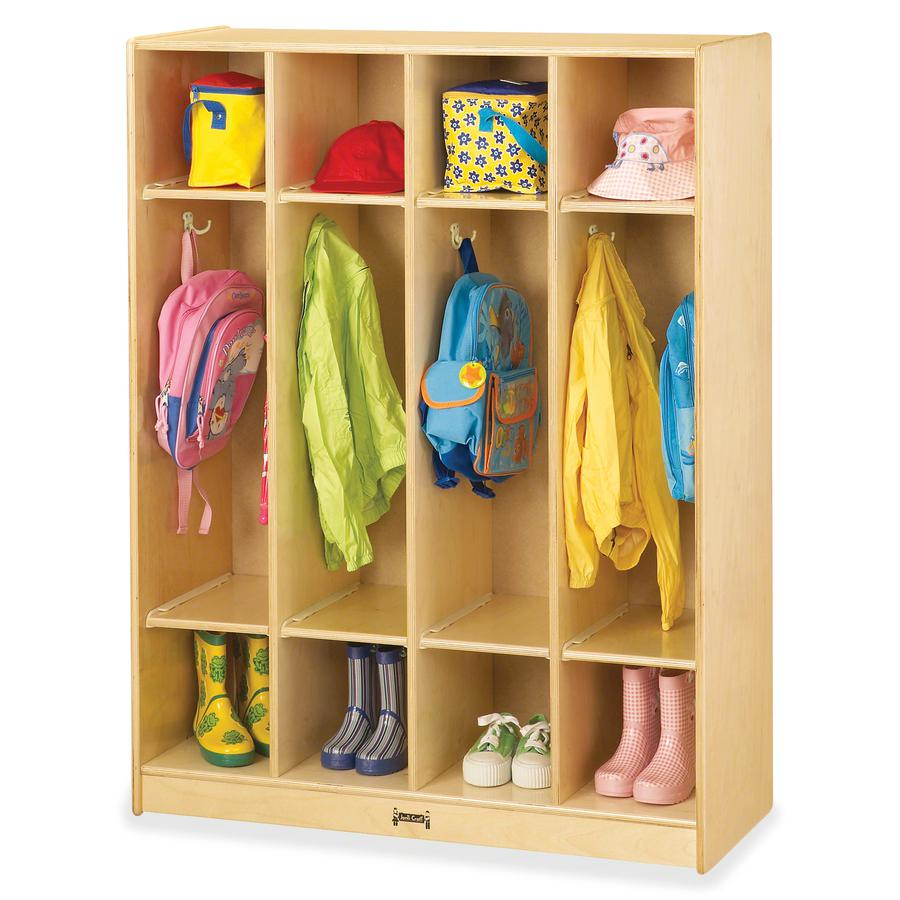 """Jonti-Craft 4-section Coat Locker - 4 Compartment(s) - 50.5"""" Height x 39"""" Width x 15"""" Depth - Baltic - Acrylic - 1Each. Picture 2"""