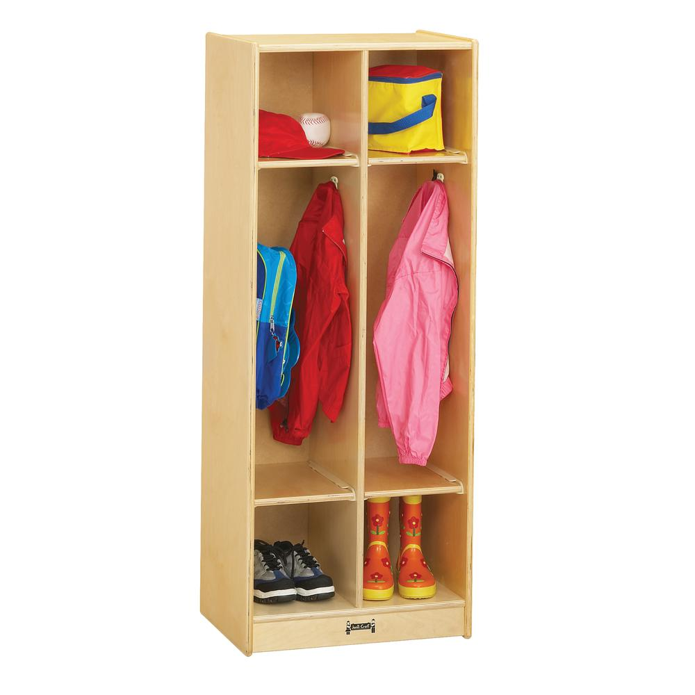 "Jonti-Craft 2 Section Coat Locker - 2 Compartment(s) - 50.5"" Height x 20"" Width x 15"" Depth - Baltic - Birch Plywood - 1Each. Picture 2"