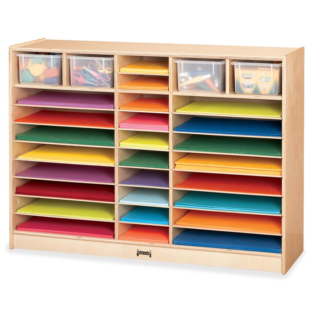 "Jonti-Craft Mobile Paper Center - 35.5"" Height x 48"" Width x 15"" Depth - Baltic - Hard Rubber - 1Each. Picture 2"