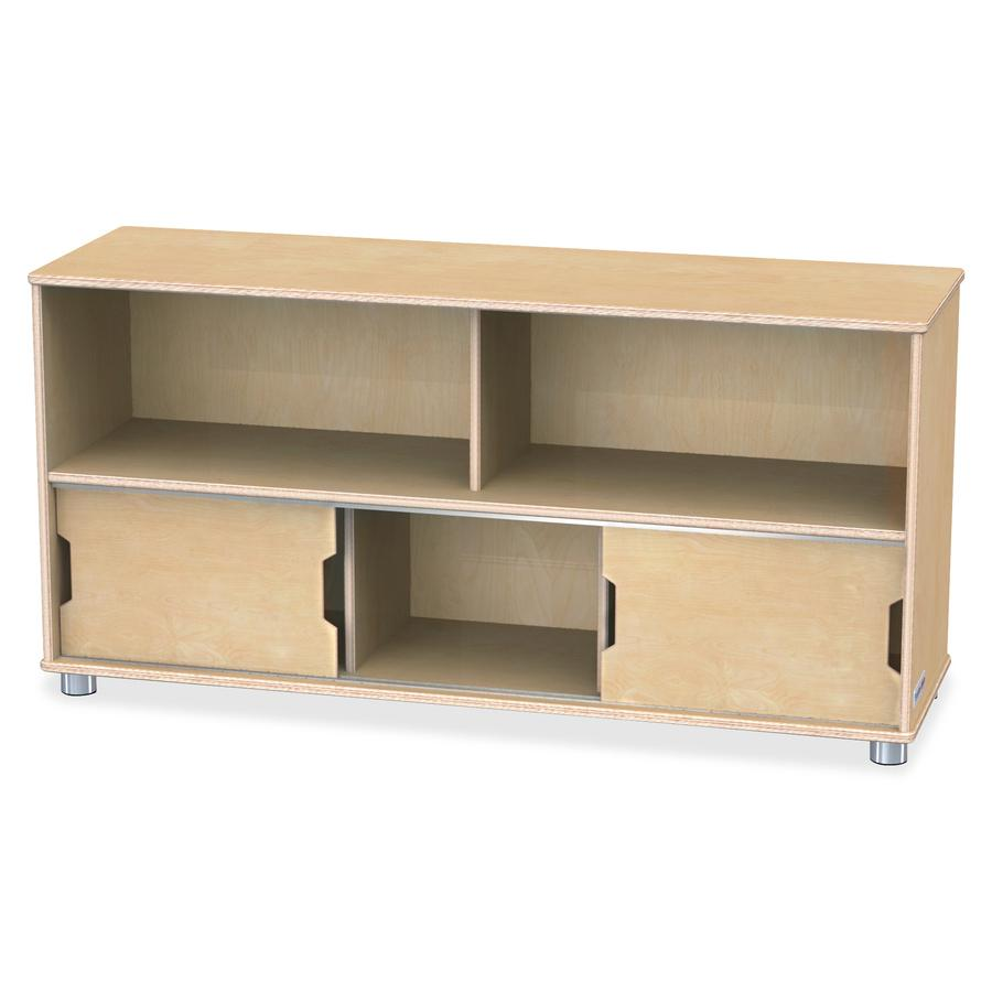"TrueModern Storage Shelves - 24"" Height x 48.5"" Width x 15"" Depth - Baltic - Anodized Aluminum, Baltic Birch - 1Each. Picture 3"