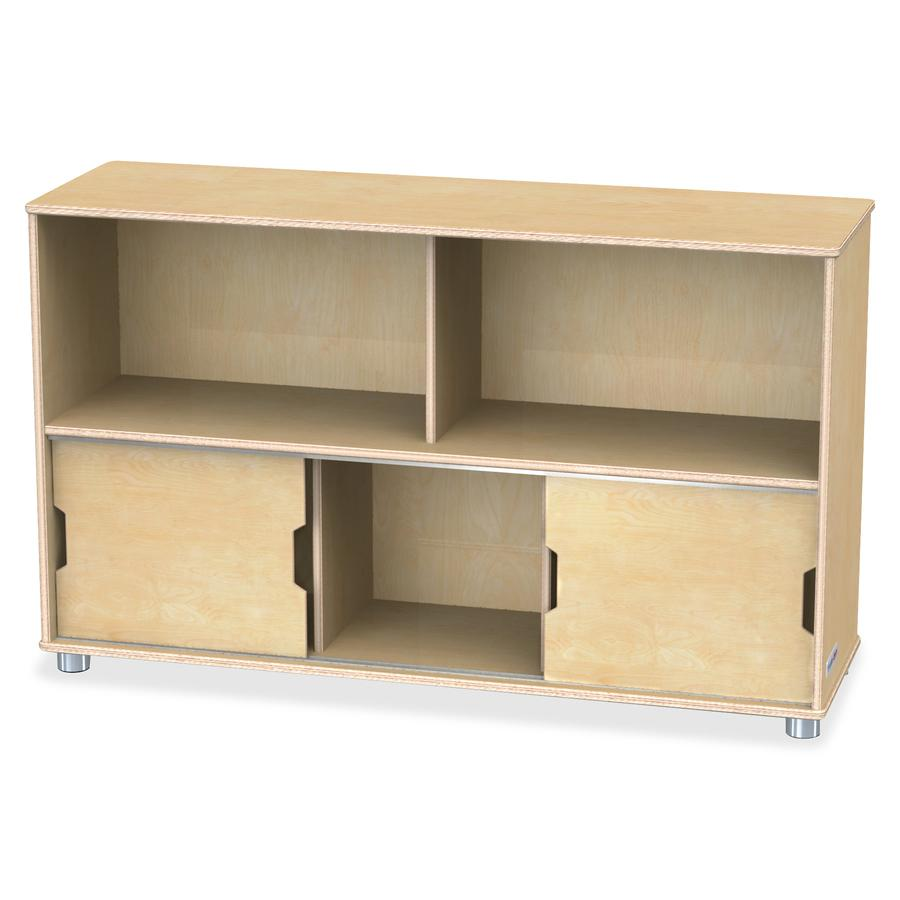 "TrueModern Storage Shelves - 29.5"" Height x 48.5"" Width x 15"" Depth - Baltic - Anodized Aluminum, Baltic Birch - 1Each. Picture 3"