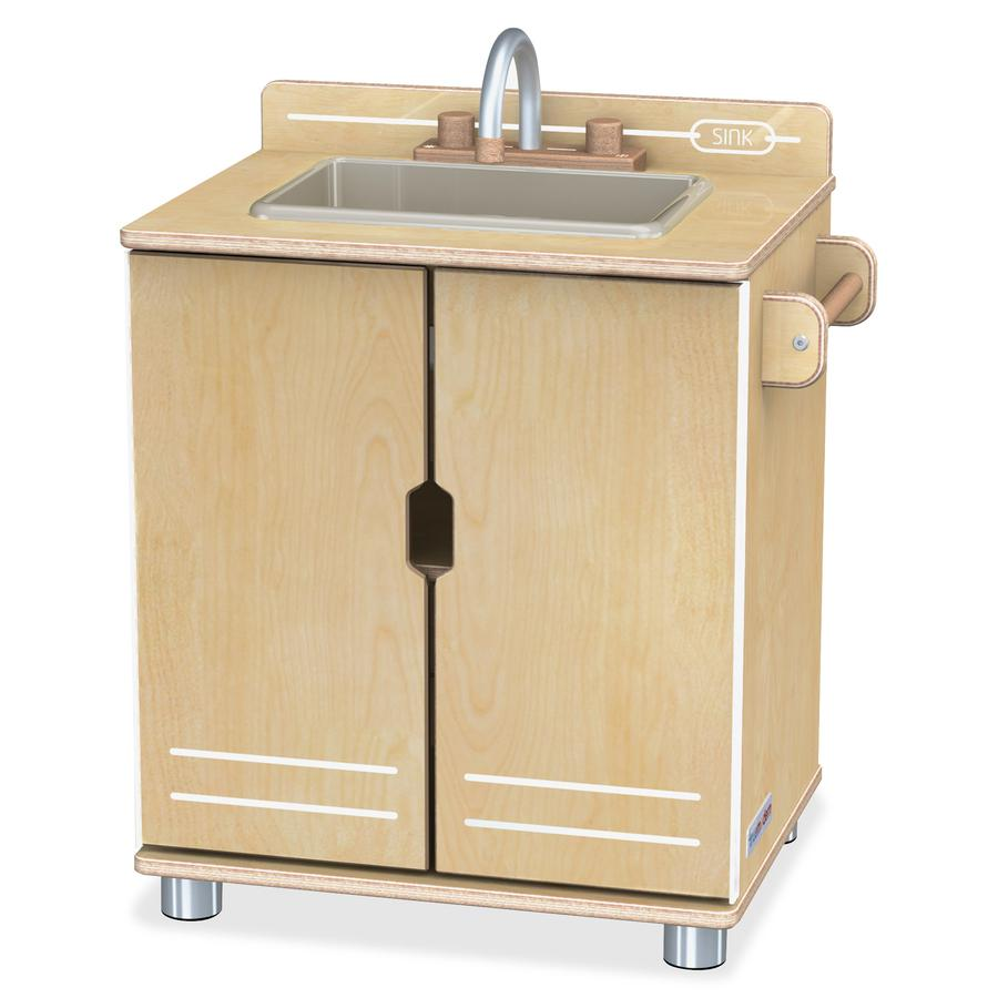 TrueModern - Play Kitchen Sink - Anodized Aluminum. Picture 3