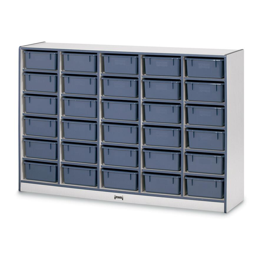 """Rainbow Accents Cubbie Mobile Storage - 30 Compartment(s) - 42"""" Height x 60"""" Width x 15"""" Depth - Navy, Navy Blue - Hard Rubber - 1Each. Picture 2"""