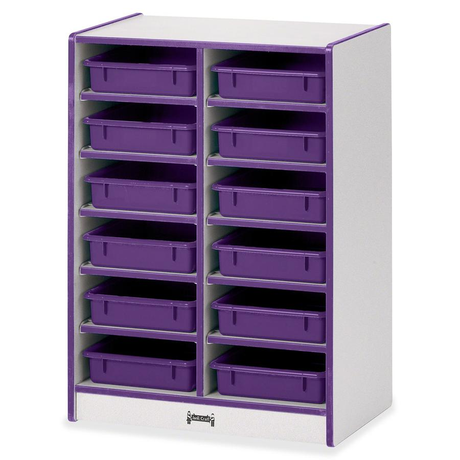 """Rainbow Accents Rainbow Mobile Paper-Tray Storage - 35.5"""" Height x 24.5"""" Width x 15"""" Depth - Purple - Rubber - 1Each. Picture 4"""