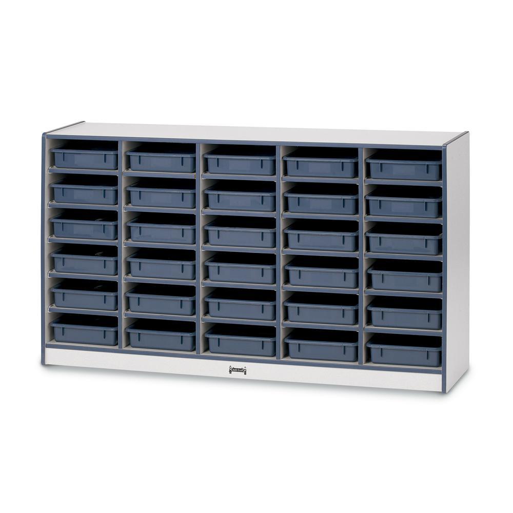 "Rainbow Accents Rainbow Paper Cubbie Mobile Storage - 30 Compartment(s) - 35.5"" Height x 60"" Width x 15"" Depth - Blue - Rubber - 1Each. Picture 5"