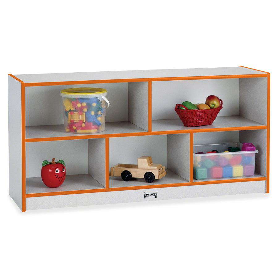 "Rainbow Accents Rainbow Low Open Single Storage Shelf - 29.5"" Height x 48"" Width x 15"" Depth - Orange - Rubber - 1Each. Picture 4"