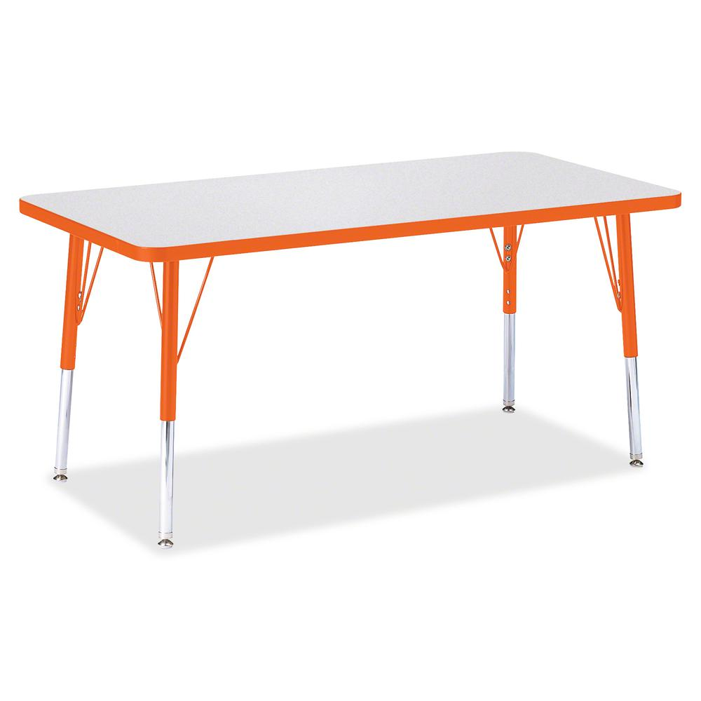 """Berries Elementary Height Color Edge Rectangle Table - Laminated Rectangle Top - Four Leg Base - 4 Legs - 48"""" Table Top Length x 24"""" Table Top Width x 1.13"""" Table Top Thickness - 24"""" Height - Assembly. Picture 3"""