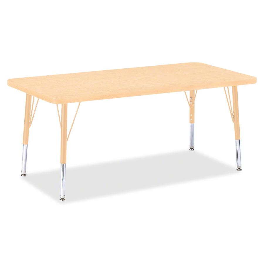 """Berries Toddler Height Maple Prism Rectangle Table - Laminated Rectangle, Maple Top - Four Leg Base - 4 Legs - 48"""" Table Top Length x 24"""" Table Top Width x 1.13"""" Table Top Thickness - 15"""" Height - Ass. Picture 2"""