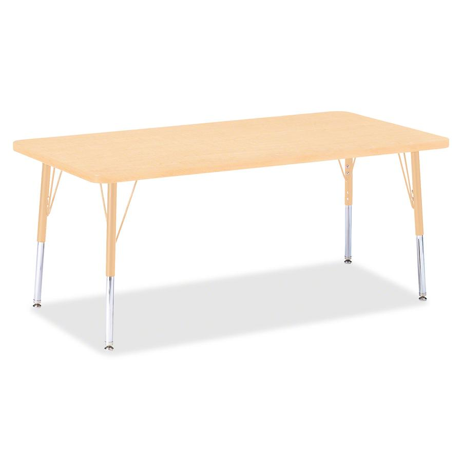 """Jonti-Craft Berries Elementary Maple Top/Edge Rectangle Table - Laminated Rectangle, Maple Top - Four Leg Base - 4 Legs - 60"""" Table Top Length x 30"""" Table Top Width x 1.13"""" Table Top Thickness - 24"""" H. Picture 2"""