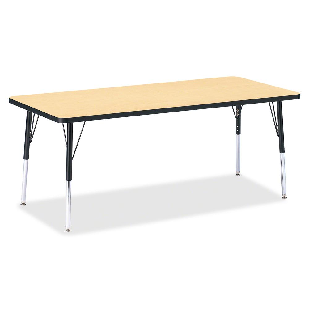 """Berries Elementary Height Color Top Rectangle Table - Laminated Rectangle, Maple Top - Four Leg Base - 4 Legs - 72"""" Table Top Length x 30"""" Table Top Width x 1.13"""" Table Top Thickness - Assembly Requir. Picture 2"""