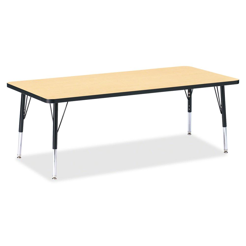 """Berries Toddler Height Color Top Rectangle Table - Laminated Rectangle, Maple Top - Four Leg Base - 4 Legs - 72"""" Table Top Length x 30"""" Table Top Width x 1.13"""" Table Top Thickness - 15"""" Height - Assem. Picture 2"""