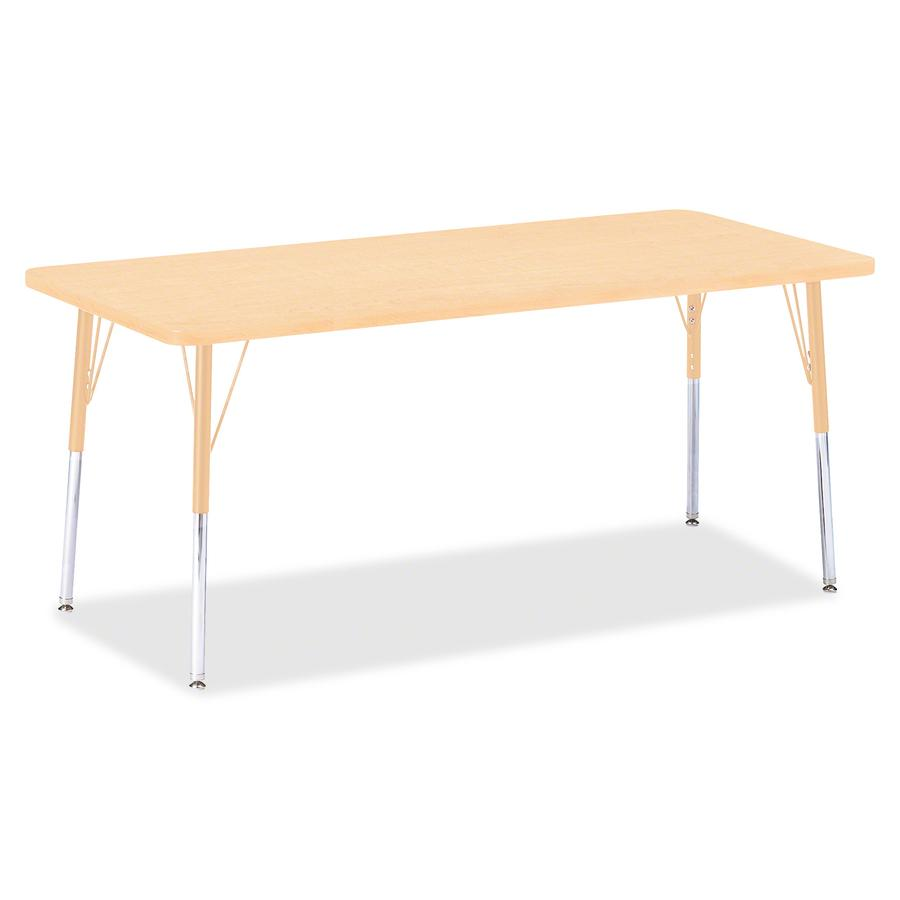 "Jonti-Craft Berries Adult Height Maple Top/Edge Rectangle Table - Laminated Rectangle, Maple Top - Four Leg Base - 4 Legs - 72"" Table Top Length x 30"" Table Top Width x 1.13"" Table Top Thickness - 31"". Picture 2"