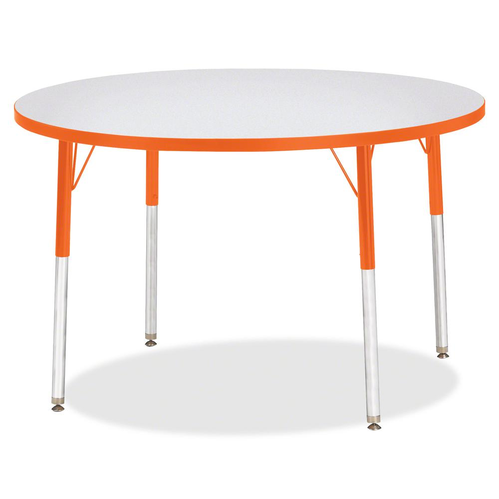 "Jonti-Craft Berries Adult Height Color Edge Round Table - Laminated Round, Orange Top - Four Leg Base - 4 Legs - 1.13"" Table Top Thickness x 42"" Table Top Diameter - 31"" Height - Assembly Required - P. Picture 2"