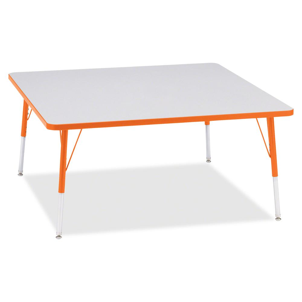 "Jonti-Craft Berries Adult Height Prism Color Edge Square Table - Laminated Square, Orange Top - Four Leg Base - 4 Legs - 48"" Table Top Length x 48"" Table Top Width x 1.13"" Table Top Thickness - 31"" He. Picture 3"