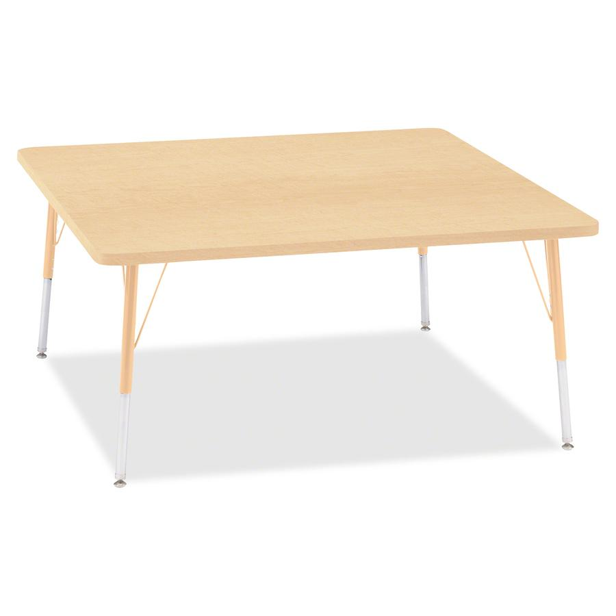 "Berries Adult Height Maple Top/Edge Square Table - Laminated Square, Maple Top - Four Leg Base - 4 Legs - 48"" Table Top Length x 48"" Table Top Width x 1.13"" Table Top Thickness - 31"" Height - Assembly. Picture 2"