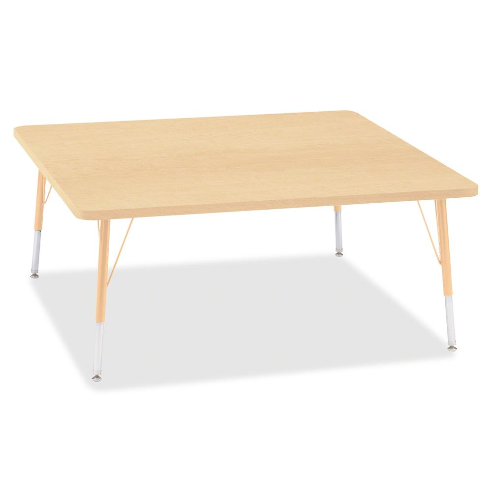 "Jonti-Craft Berries Elementary Height Maple Top/Edge Square Table - Laminated Square, Maple Top - Four Leg Base - 4 Legs - 48"" Table Top Length x 48"" Table Top Width x 1.13"" Table Top Thickness - 24"" . Picture 2"