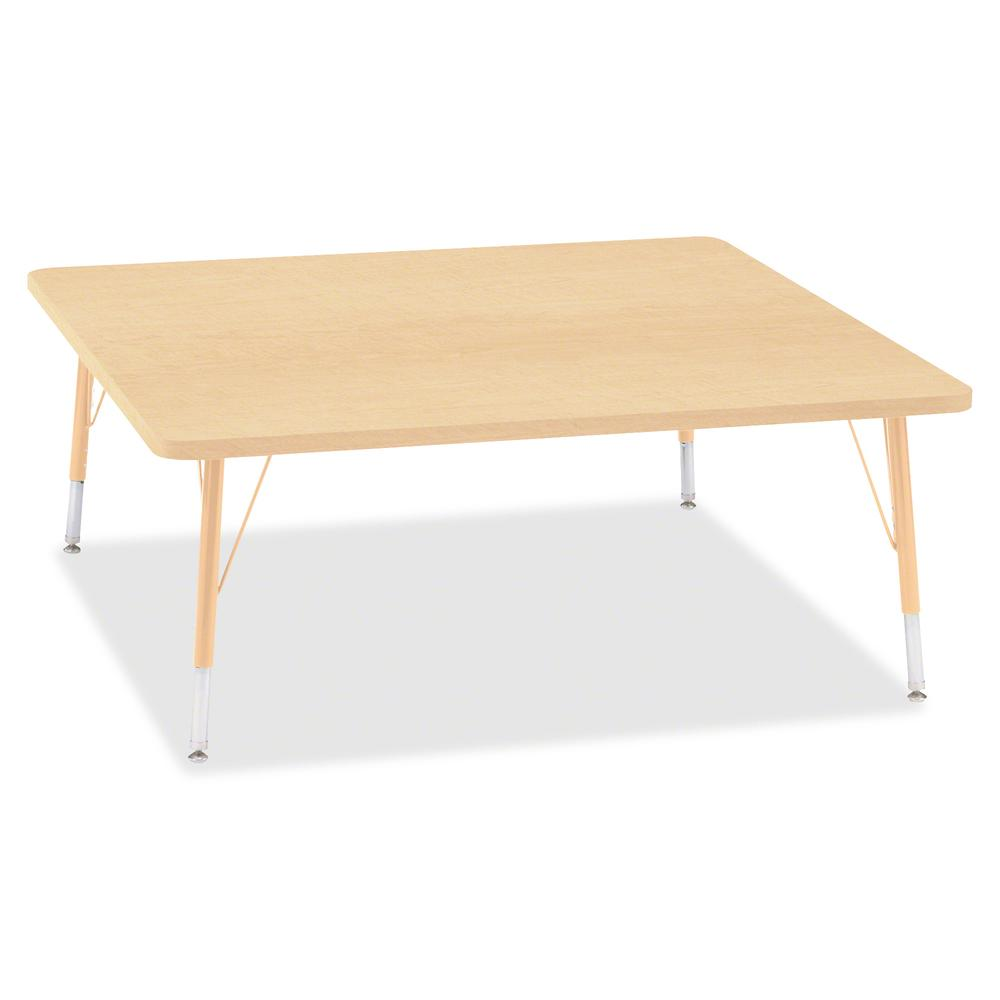 "Berries Toddler Height Maple Top/Edge Square Table - Laminated Square, Maple Top - Four Leg Base - 4 Legs - 48"" Table Top Length x 48"" Table Top Width x 1.13"" Table Top Thickness - 15"" Height - Assemb. Picture 2"