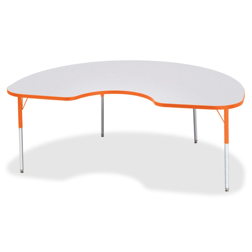 "Jonti-Craft Berries Adult Height Prism Color Edge Kidney Table - Laminated Kidney-shaped, Orange Top - Four Leg Base - 4 Legs - 72"" Table Top Length x 48"" Table Top Width x 1.13"" Table Top Thickness -. Picture 3"