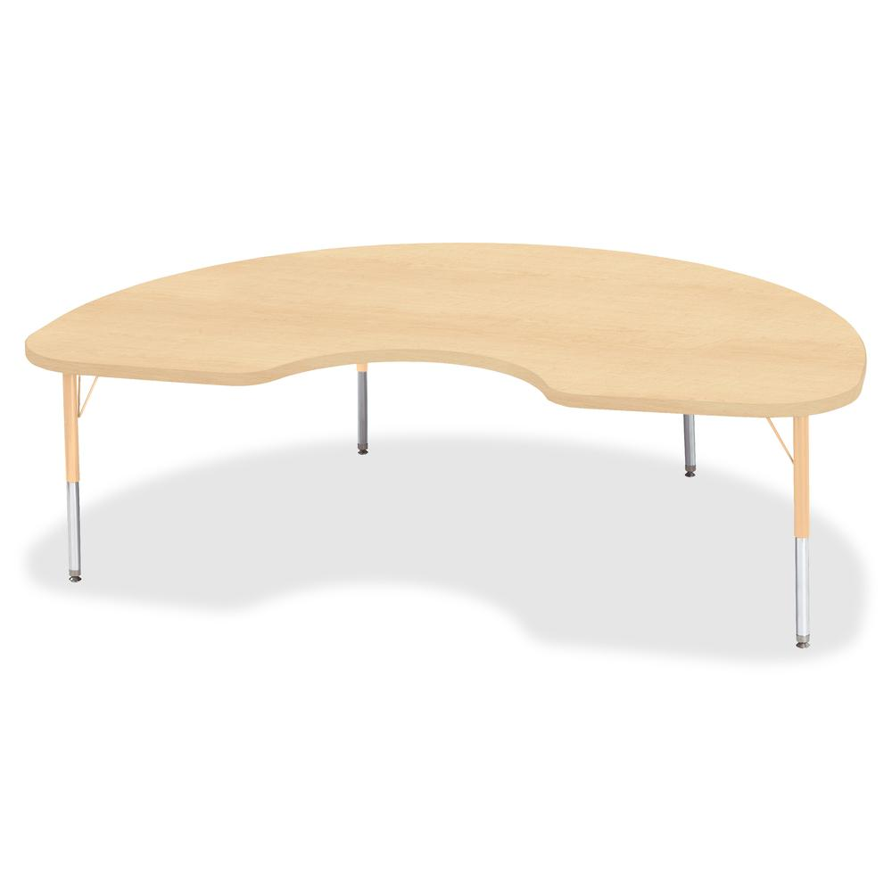 """Jonti-Craft Berries Toddler Height Maple Top/Edge Kidney Table - Laminated Kidney-shaped, Maple Top - Four Leg Base - 4 Legs - 72"""" Table Top Length x 48"""" Table Top Width x 1.13"""" Table Top Thickness - . Picture 2"""