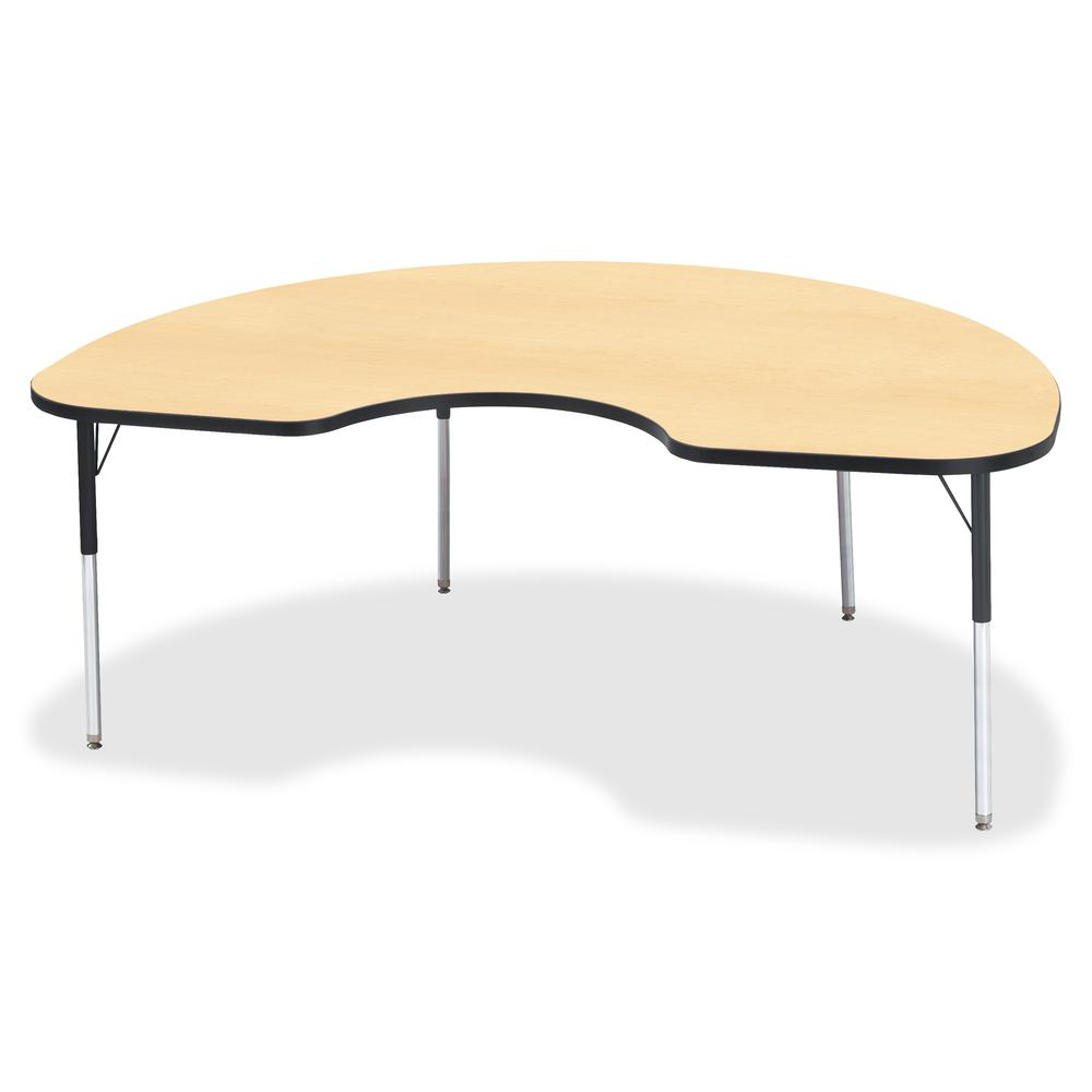 """Berries Adult Color Top Kidney Table - Laminated Kidney-shaped, Maple Top - Four Leg Base - 4 Legs - 72"""" Table Top Length x 48"""" Table Top Width x 1.13"""" Table Top Thickness - 31"""" Height - Assembly Requ. Picture 2"""