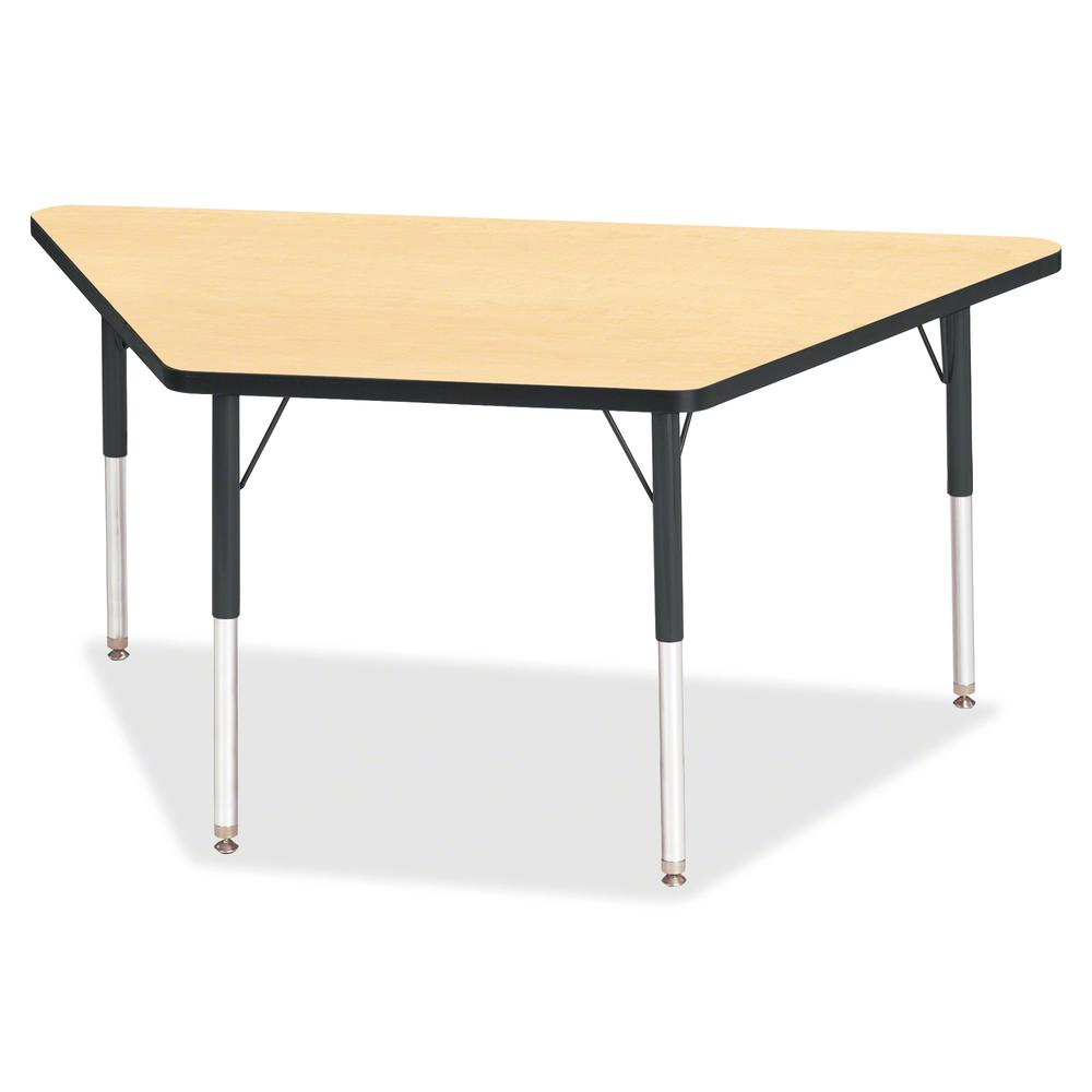 "Berries Adult-Size Classic Color Trapezoid Table - Laminated Trapezoid, Maple Top - Four Leg Base - 4 Legs - 60"" Table Top Length x 30"" Table Top Width x 1.13"" Table Top Thickness - 31"" Height - Assem. Picture 2"