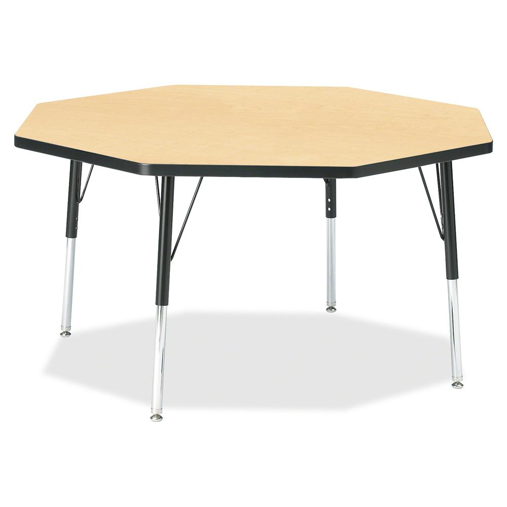 """Berries Elementary Height Color Top Octagon Table - Laminated Octagonal, Maple Top - Four Leg Base - 4 Legs - 1.13"""" Table Top Thickness x 48"""" Table Top Diameter - 24"""" Height - Assembly Required - Powd. Picture 2"""