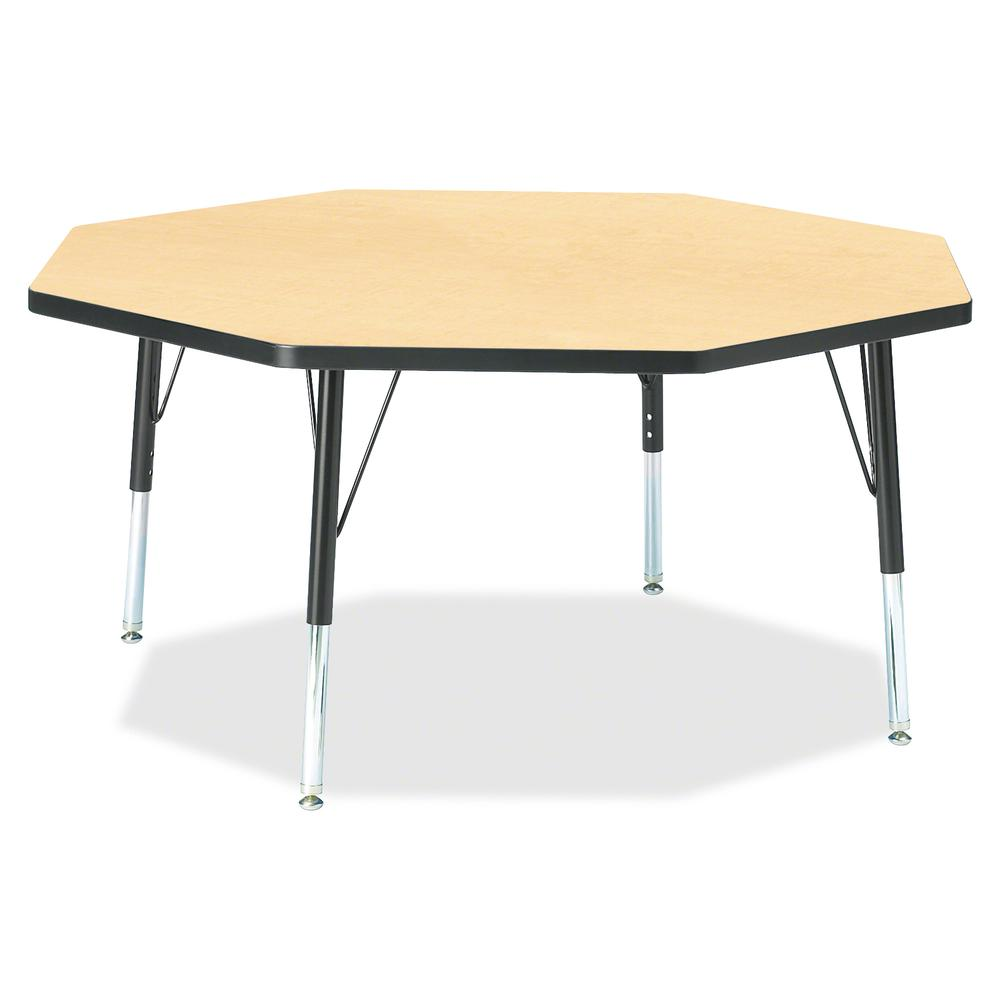 """Berries Toddler Height Color Top Octagon Table - Laminated Octagonal, Maple Top - Four Leg Base - 4 Legs - 1.13"""" Table Top Thickness x 48"""" Table Top Diameter - 15"""" Height - Assembly Required - Powder . Picture 2"""