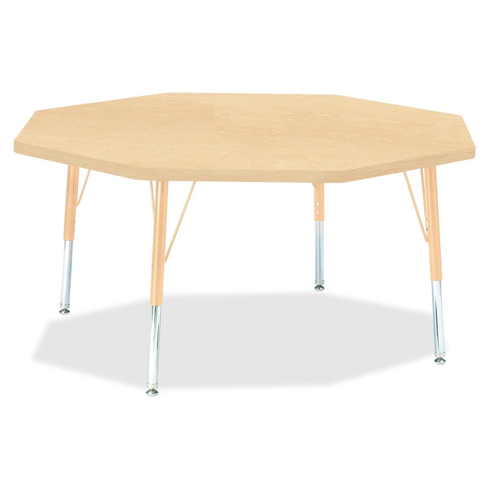 """Berries Toddler Height Maple Top/Edge Octagon Table - Laminated Octagonal, Maple Top - Four Leg Base - 4 Legs - 1.13"""" Table Top Thickness x 48"""" Table Top Diameter - 15"""" Height - Assembly Required - Po. Picture 2"""