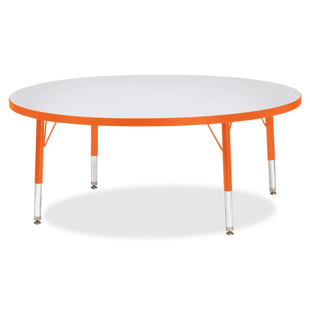 """Jonti-Craft Berries Toddler Height Color Edge Round Table - Laminated Round, Orange Top - Four Leg Base - 4 Legs - 1.13"""" Table Top Thickness x 48"""" Table Top Diameter - 15"""" Height - Assembly Required -. Picture 3"""