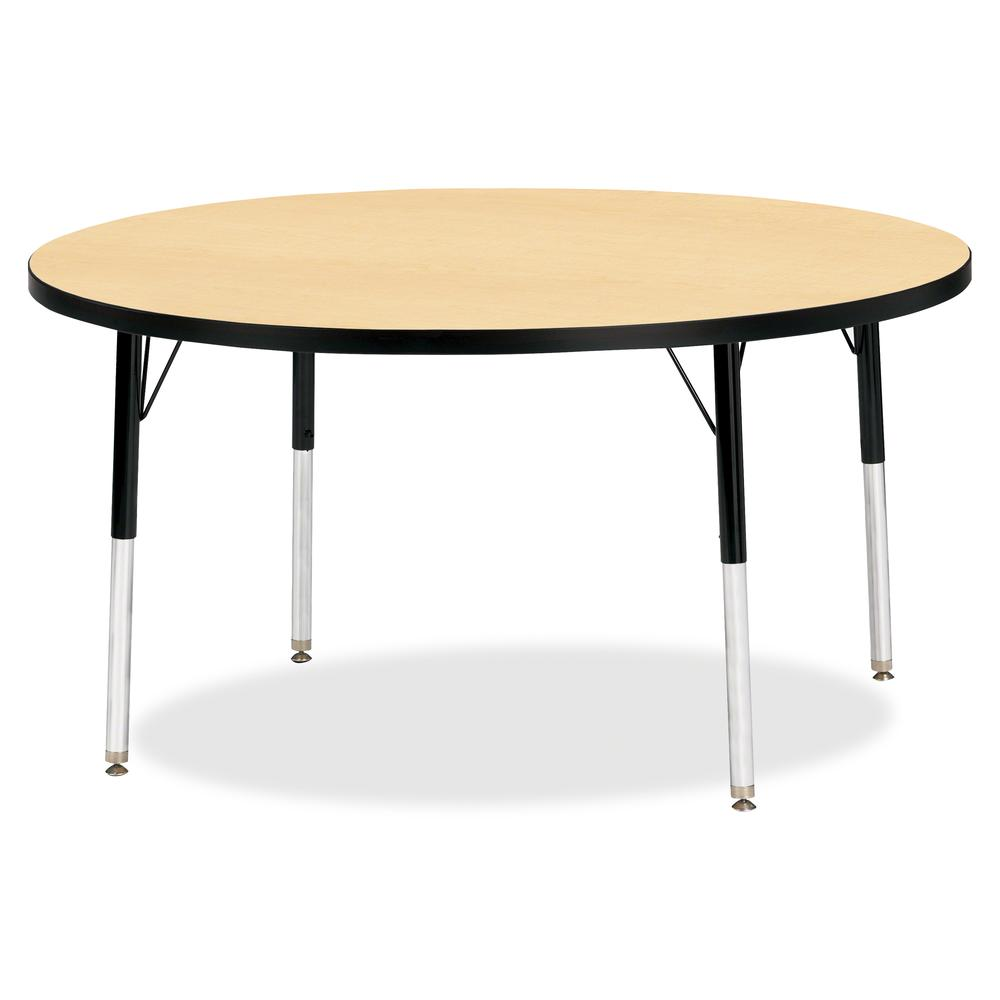 "Berries Adult Height Color Top Round Table - Laminated Round, Maple Top - Four Leg Base - 4 Legs - 1.13"" Table Top Thickness x 48"" Table Top Diameter - 31"" Height - Assembly Required - Powder Coated -. Picture 2"