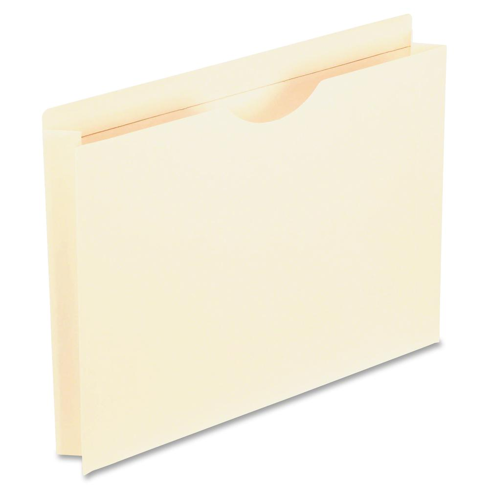 "Pendaflex Manila Reinforced File Jackets - Letter - 8 1/2"" x 11"" Sheet Size - 2"" Expansion - 1 Pocket(s) - Straight Tab Cut - Top Tab Location - 11 pt. Folder Thickness - Manila - Manila - Recycled - . Picture 2"