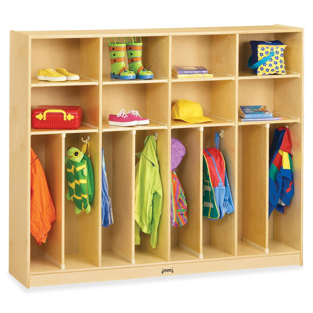 "Jonti-Craft Large Neat-n-Trim Locker - 8 Compartment(s) - 50.5"" Height x 60"" Width x 15"" Depth - Baltic - Acrylic - 8 / Each. Picture 3"