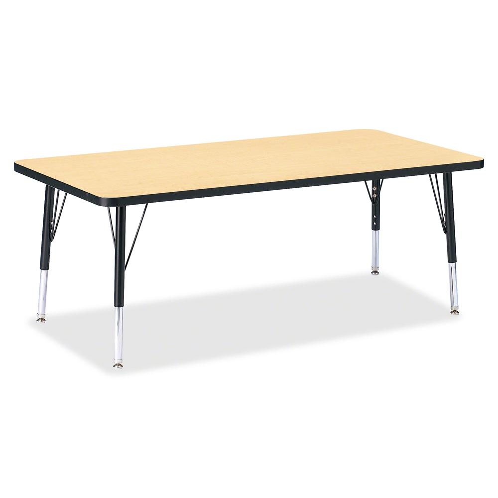 """Berries Toddler Height Color Top Rectangle Table - Laminated Rectangle, Maple Top - Four Leg Base - 4 Legs - 30"""" Table Top Length x 60"""" Table Top Width x 1.13"""" Table Top Thickness - 15"""" Height - Assem. Picture 2"""