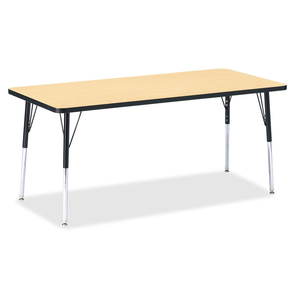 """Jonti-Craft Berries Adult Height Color Top Rectangle Table - Laminated Rectangle, Maple Top - Four Leg Base - 4 Legs - 72"""" Table Top Length x 30"""" Table Top Width x 1.13"""" Table Top Thickness - 31"""" Heig. Picture 3"""