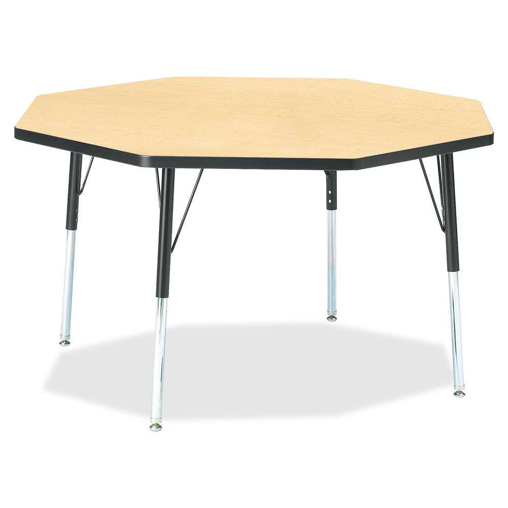 """Jonti-Craft Berries Adult Height Color Edge Octagon Table - Laminated Octagonal, Maple Top - Four Leg Base - 4 Legs - 1.13"""" Table Top Thickness x 48"""" Table Top Diameter - 31"""" Height - Assembly Require. Picture 2"""