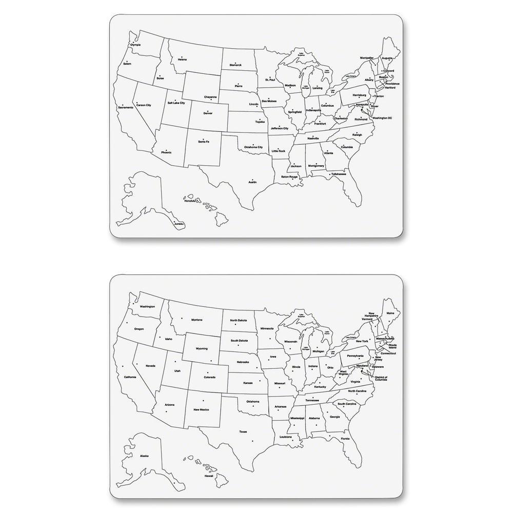 ChenilleKraft Large USA Map Whiteboard United States - Us map whiteboard