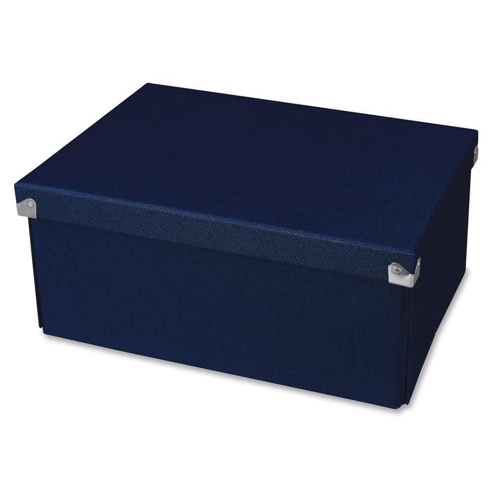Samsill Pop N Store Medium Document Box Navy Blue 12