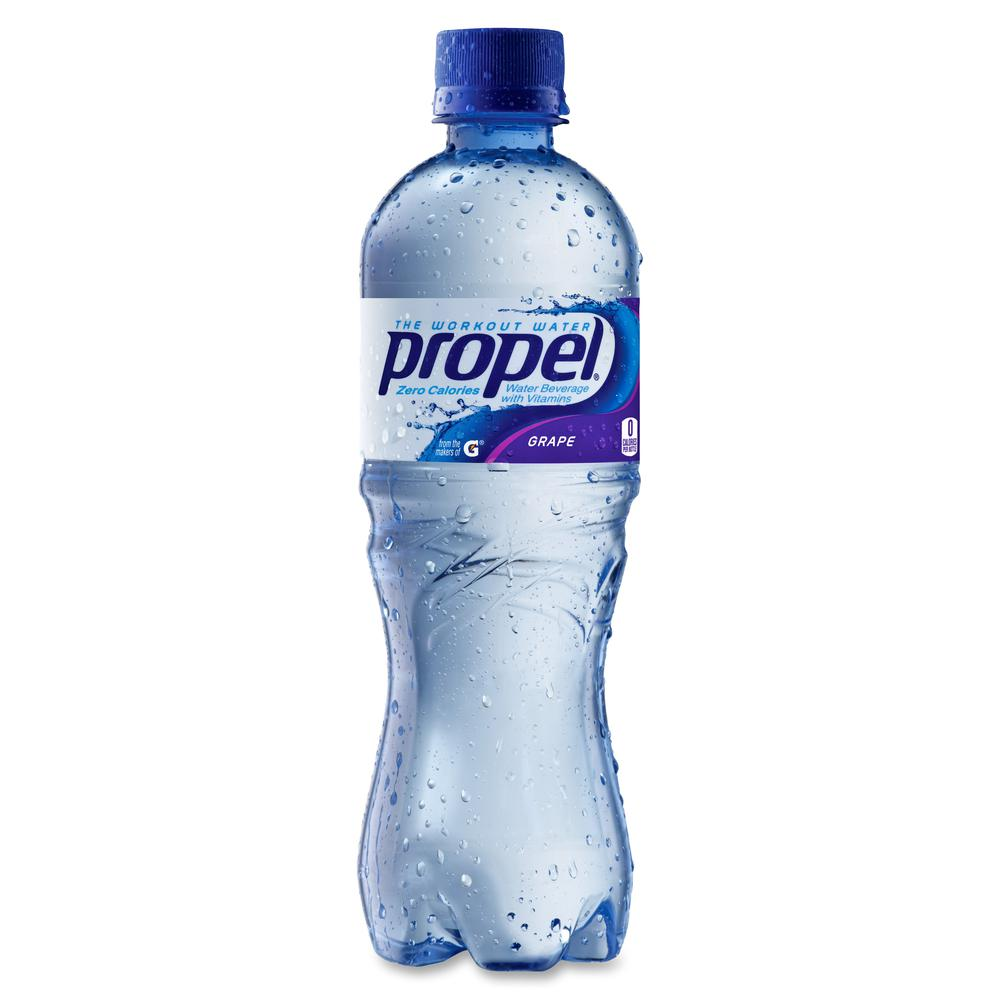 Propel Zero Calorie Water Beverage with Vitamins - Grape Flavor - 16.90 fl oz (500 mL) - Bottle - 24 / Carton